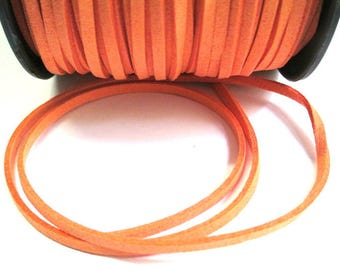 5 m look orange suede 3 mm suede cord
