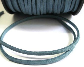 1 m blue appearance suede 3 mm suede cord