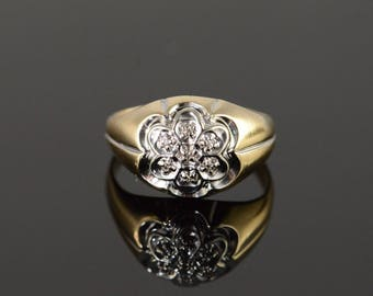10k Diamond Cluster Ring Gold