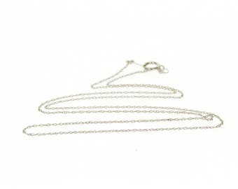 """10k 0.8mm Rolling Cable Link Fancy Chain Necklace Gold 18"""""""