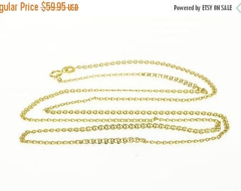 Big SALE 10k 1.9mm Pressed Sprial Swirl Link Chain Necklace Gold 22""