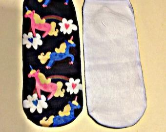 Art Socks for Kids- 6 Unicorn Artsy Designs - Cool Socks - Ankle Socks -Artsy