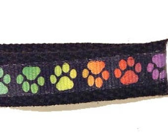 Artsy Lanyard, Key Fob, Colorful Critter Paw, Dog Paw, Cat Paw, ID Badge Holder, Teachers, Animals,Gift