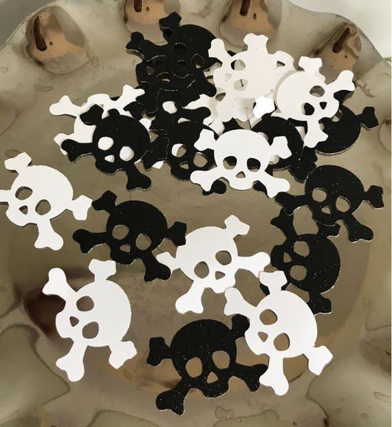 Pirate confetti, pirate party, Skull and Crossbones confetti, pirate party decorations, pirate