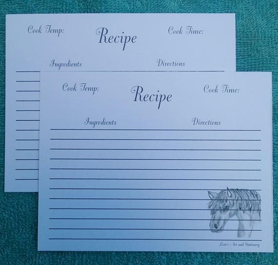 Baking recipe cards recipe cards horse recipe cards like this item forumfinder Gallery