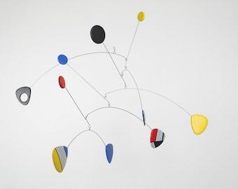 Calder Style Mobile, Modern Hanging Mobile, Mid Century, Retro Mobile, Hanging Mobile, Modern Home, Mobile Art, Kinetic Mobile, Moving Art