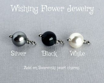 Add on Swarovski pearl charm, for purchased bangle