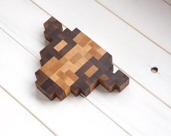 Bovine Pixels End Grain Chop Block