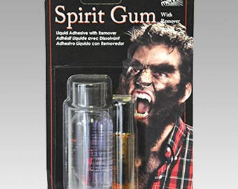 Mehron Spirit Gum with Remover - Adhesive 1.25 oz Remover 1 oz Theatrical Quality Product