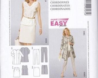 FREE US SHIP Burda 7075 Dress Coat Ensemble Size 10 12 14 16 18 20 22 24 Bust 32 34 36 38 40 42 44 46 plus Uncut Sewing Pattern