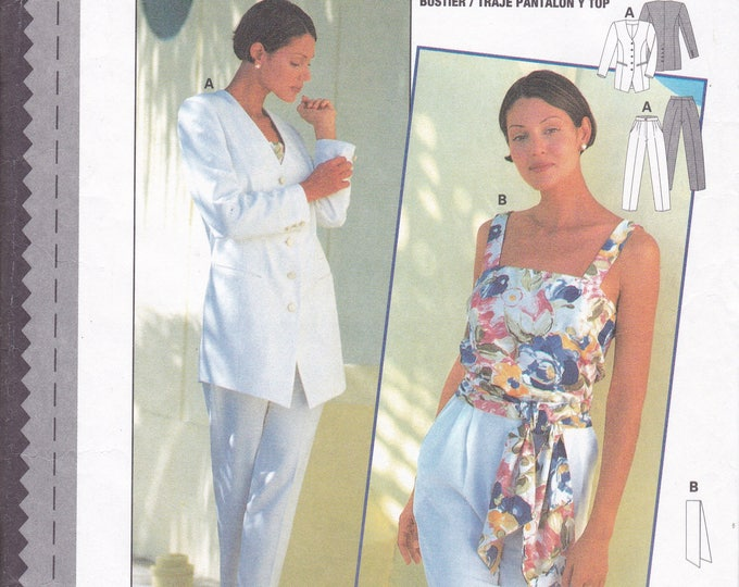 FREE US SHIP  Burda 3722 Sewing Pattern Couture Top Pants Jacket Size 8/18 Size 8 10 12 14 16 18 Bust 31 32 34 36 38 40 Uncut