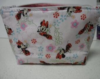 Disney - Minnie Mouse Zipper Pouch Cosmetic Make Up Accessories Crayon Pen Pencil Case