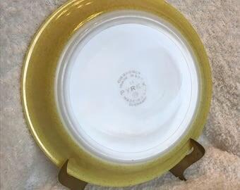 """Vintage Pyrex Desert Dawn Pie Plate 209 9"""" Speckled Yellow"""