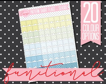 PATTERNED SHORT FLAGS - Functional Stickers - Planner Stickers Matt