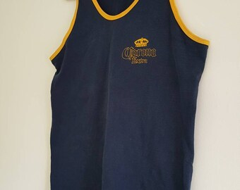 Corona Beer vintage Tank Top // size Large // cotton // official // FREE SHIPPING in USA