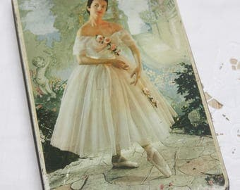 Beautiful Vintage Toffee Tin with Ballerina Decor, Edward Sharp, England