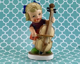 The Musician 3008E Arnart Figurine/Collectible Girl Japan Ceramic Figurine/Vintage Porcelain Girl Figurine The Musician