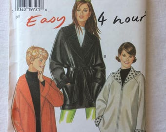 New Look 6571 UNCUT New Misses Size Small, Medium, Large, Extra Large (XL), and Extra Extra Large (XXL) Jacket or Coat Pattern