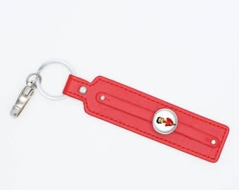 betty leather Keyring