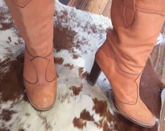 Womans Vintage leather boots