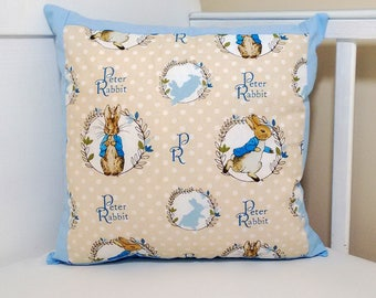 Peter rabbit pink or blue cushion