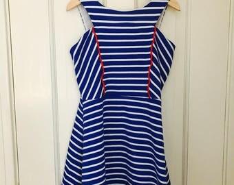 Vintage Girls Dress for Fourth of July Red White and Blue Size 6, Girls Vintage Clothes, Girls Summer Dresses, Vintage Kids Clothes