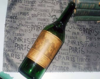 Vintage (c.1975) Chateau Haut Brion (empty) bottle. Made in Graves, France. Great home bar decor!