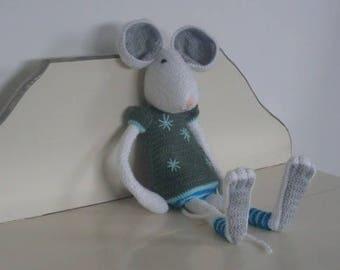 Hortense wool white mouse