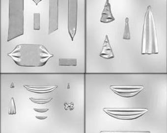 Drape/Swag/Bow/Pillar Mold Set--4 Mold Sheet Set