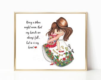 I'm a mammma - Fashion Illustration (Print)