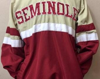 FSU 58 Sports Florida State Seminoles (Size M/M) Pullover/Windbreaker