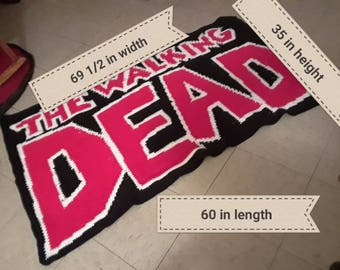The walking dead blanket
