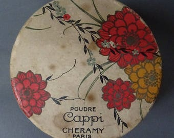 Vintage 1930s/30s Cheramy Paris FACE POWDER BOX Packaging Flapper Boudoir