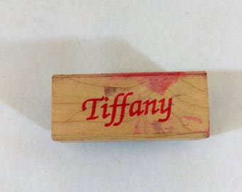 "Rubber Stamp ""TIFFANY"" Used Ships FREE"