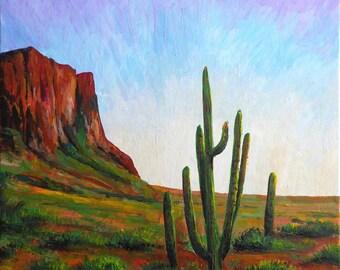 Acrylic painting California Cactus