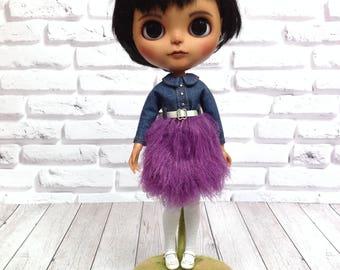 Blythe fluffy dress(violet)