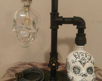 Industrial table lamp. Steampunk