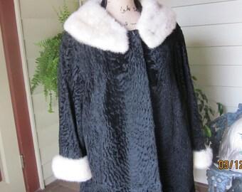 Persian Lamb 3/4 Jack/Coat with Mink Trim