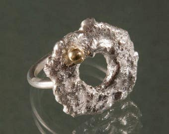 LAVA - Order your recycled silver and gold ring sending in your own material for recycling