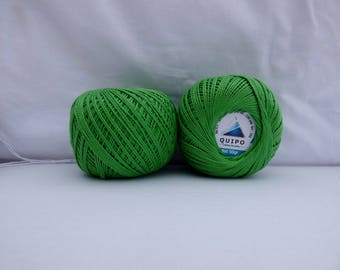 cotton yarn to crochet or knit Green