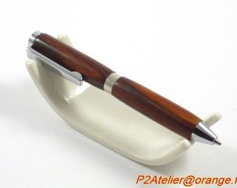 Ballpoint pen model Mini cocobolo - handmade P2Atelier