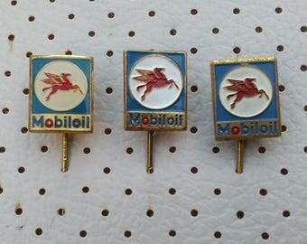 Mobiloil Vintage Pins Motor Oils Old Pins Souvenirs Vehicle Oil Automobilia Mobil Oil