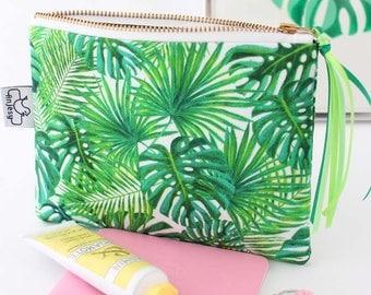 Zipper pouch//Tropical zipper pouch//Tropical//Tropical pencil pouch//Tropical makeup bag//Original ANJESY designs