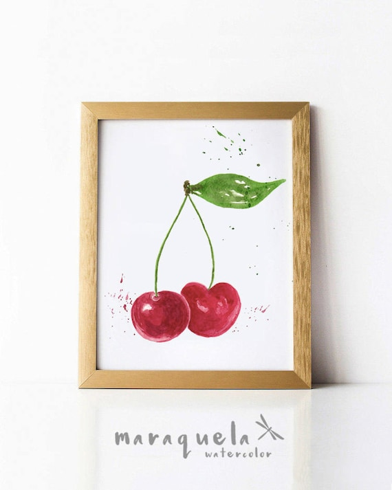 CHERRY illustration Watercolor.