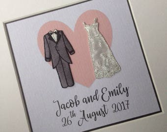 Personalised Wedding Frame Gift - Wedding Present - Gift for Couple - Mr and Mrs - Wedding Keepsake - Bride & Groom - Gay Wedding