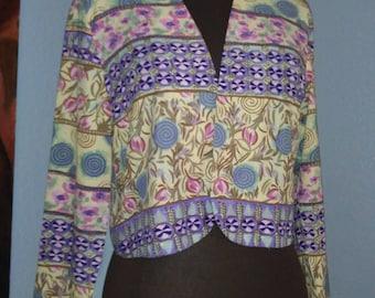 Vintage 80's Bolero ropped Jacket by Petites Sophisticates Size Small