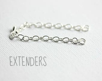 Chain extender, Add an extended chain to your necklace, Extender Bracelet, Available in Sterling Silver