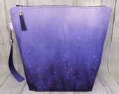 Purple ombre extra large project bag