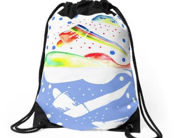 Sweet Rainbow Drawtring Bag