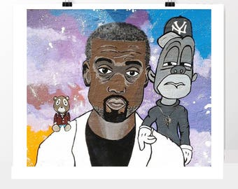 the STORY OF KANYE print